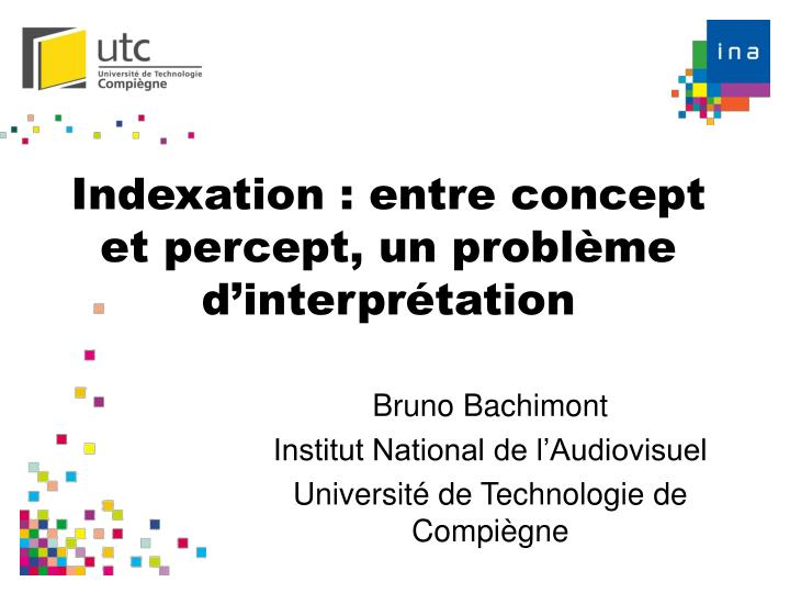 indexation entre concept et percept un probl me d interpr tation n.