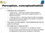 perception conceptualisation