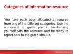 categories of information resource1