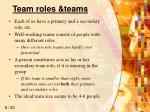 team roles teams