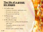the life of a group six stages1