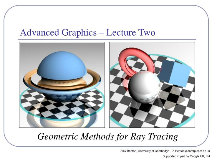 geometric methods for ray tracing n.