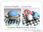 geometric methods for ray tracing
