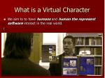 what is a virtual character1