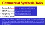 commercial synthesis tools