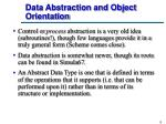 data abstraction and object orientation
