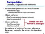 encapsulation classes objects and methods