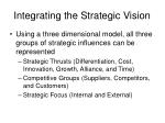integrating the strategic vision