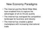 new economy paradigms