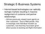strategic e business systems