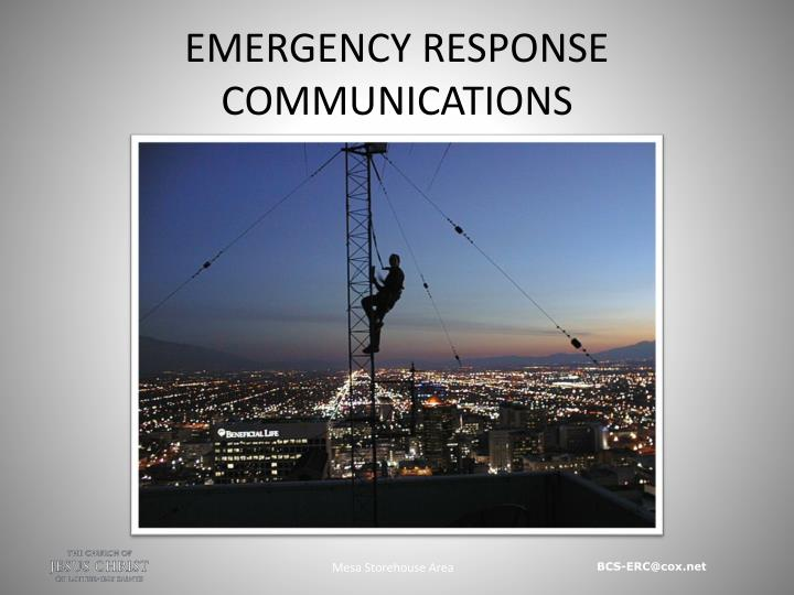 emergency response communications n.
