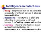 intelligence in catechesis