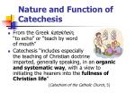 nature and function of catechesis
