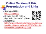 online version of this presentation and links