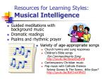 resources for learning styles musical intelligence