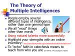 the theory of multiple intelligences