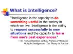 what is intelligence1