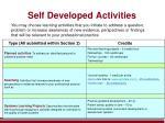 self developed activities1