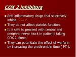 cox 2 inhibitors