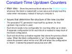 constant time up down counters