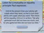 listen for a mutuality or equality principle paul expresses1