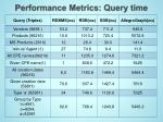 performance metrics query time