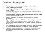 quality of participation