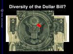 diversity of the dollar bill