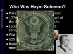 who was haym solomon