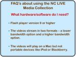 faq s about using the nc live media collection