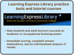 learning express library practice tests and tutorial courses