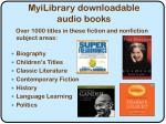 myilibrary downloadable audio books