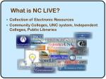 what is nc live