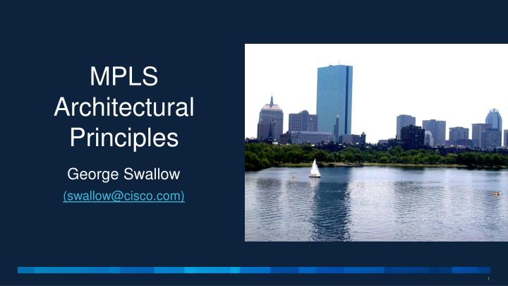 mpls architectural principles n.