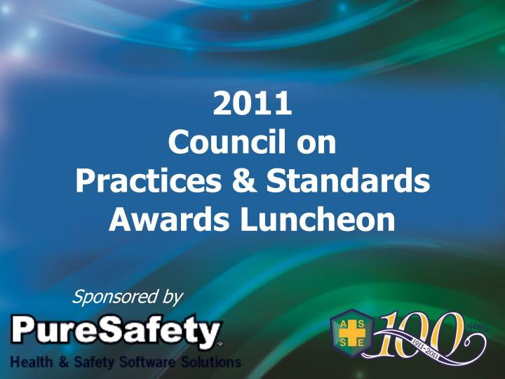2011 council on practices standards awards luncheon n.