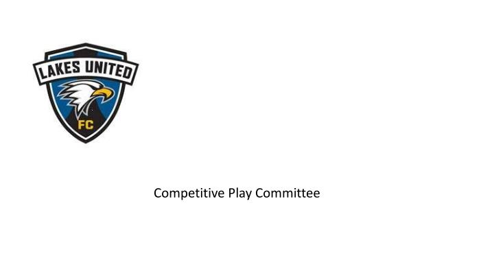 competitive play committee n.