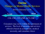 overview changes in mental health services13