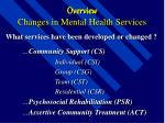 overview changes in mental health services6
