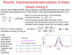 results improved parameterizations of shear driven mixing ii