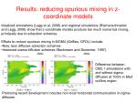 results reducing spurious mixing in z coordinate models