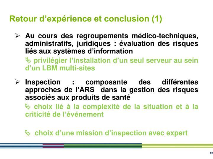 Retour d'expérience et conclusion (1)