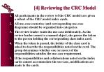 4 reviewing the crc model