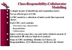 class responsibility collaborator modelling