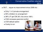 conservative coalition elected 2010