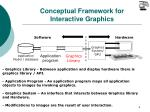 conceptual framework for interactive graphics