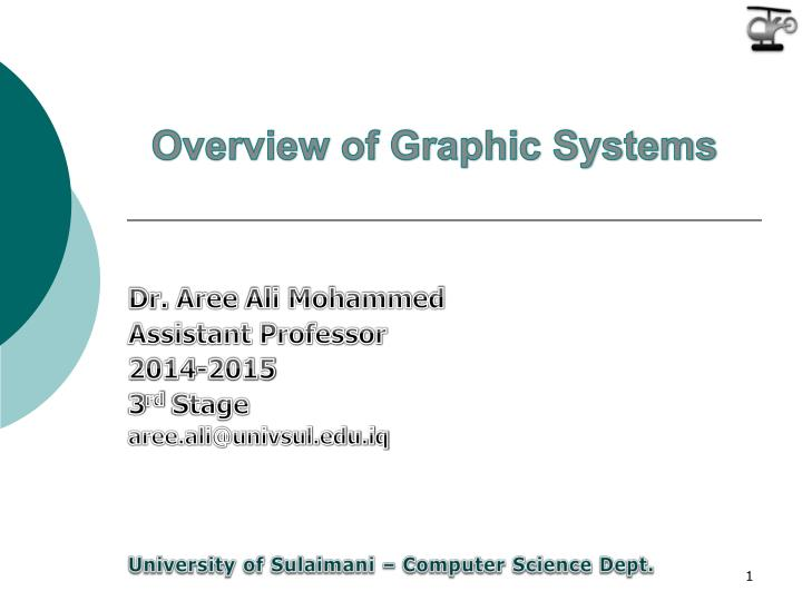 overview of graphic systems n.