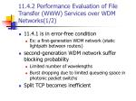11 4 2 performance evaluation of file transfer www services over wdm networks 1 2