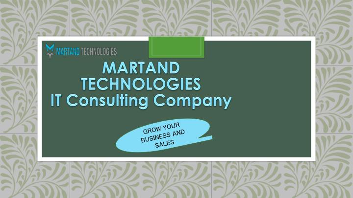 martand technologies it consulting company n.