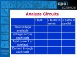 analyze circuits