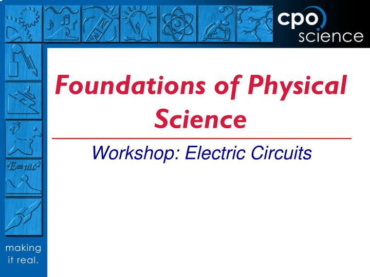 foundations of physical science n.